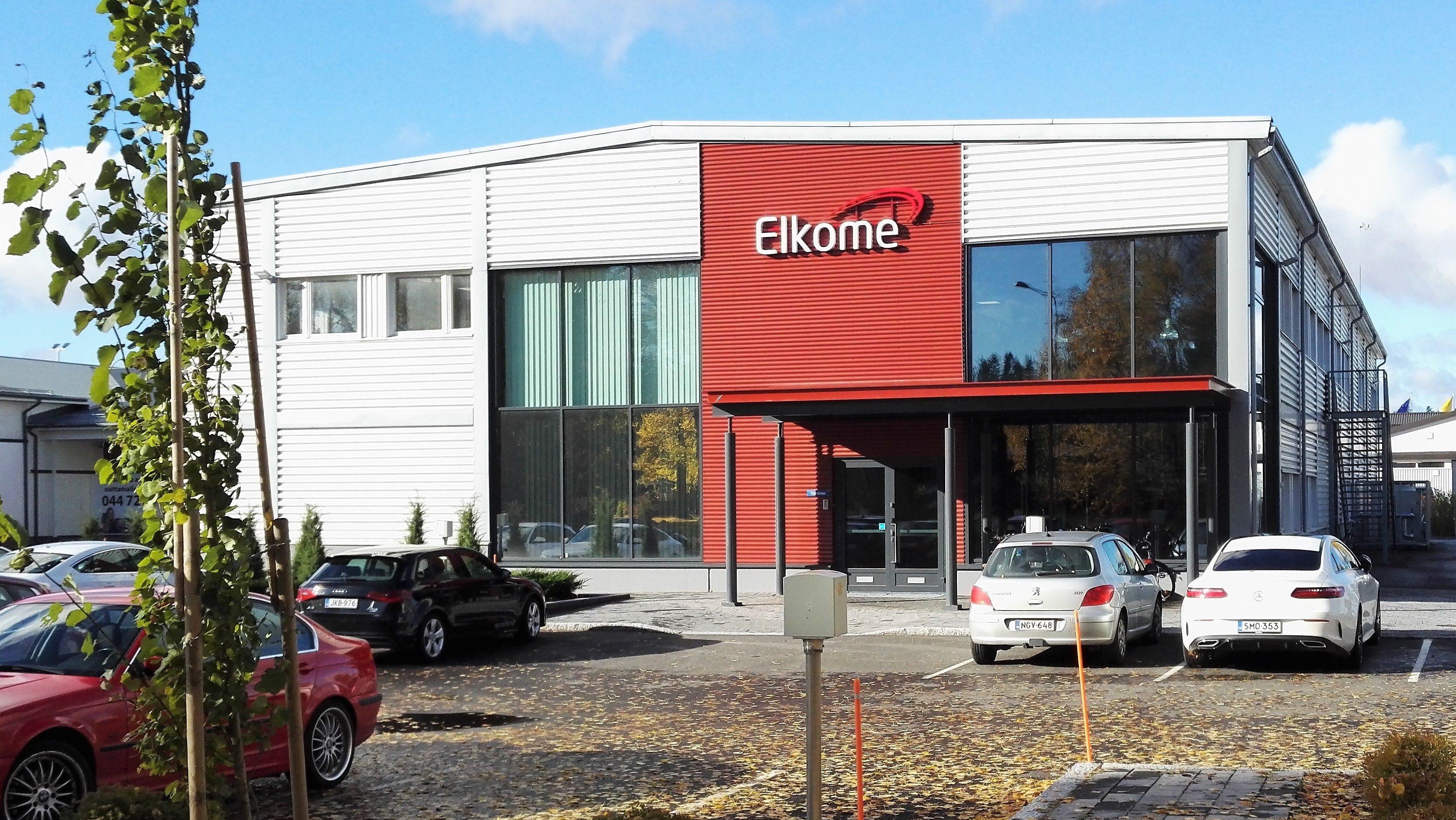 Elkome Oy:n toimitilat Hyvinkäällä
