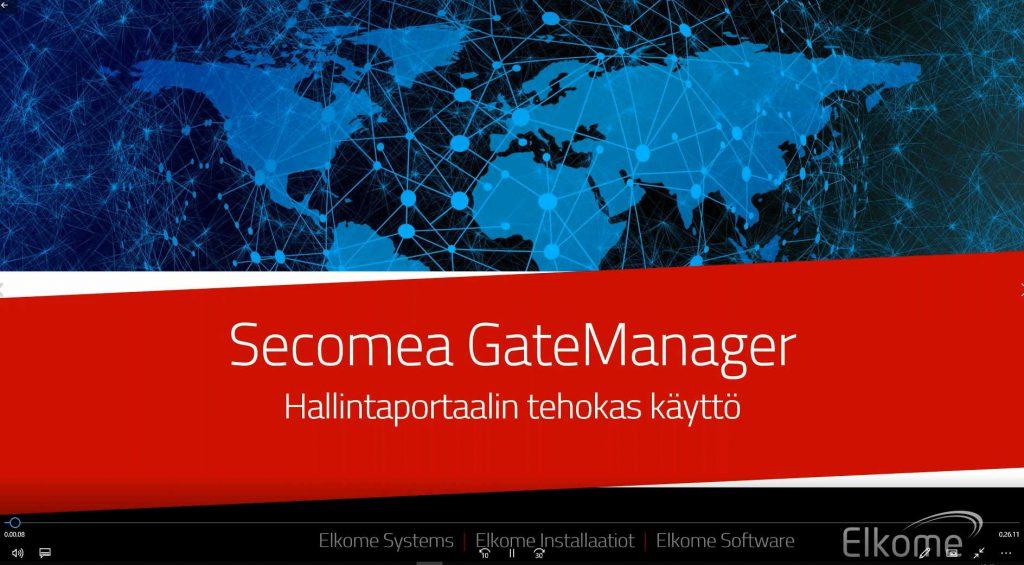 Secomea GateManager tehokäyttö videoesitys