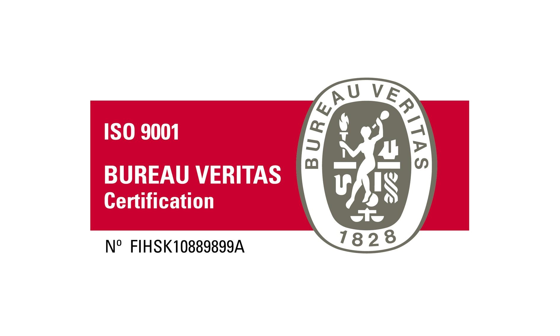 ISO9001 sertifikaatti Elkome