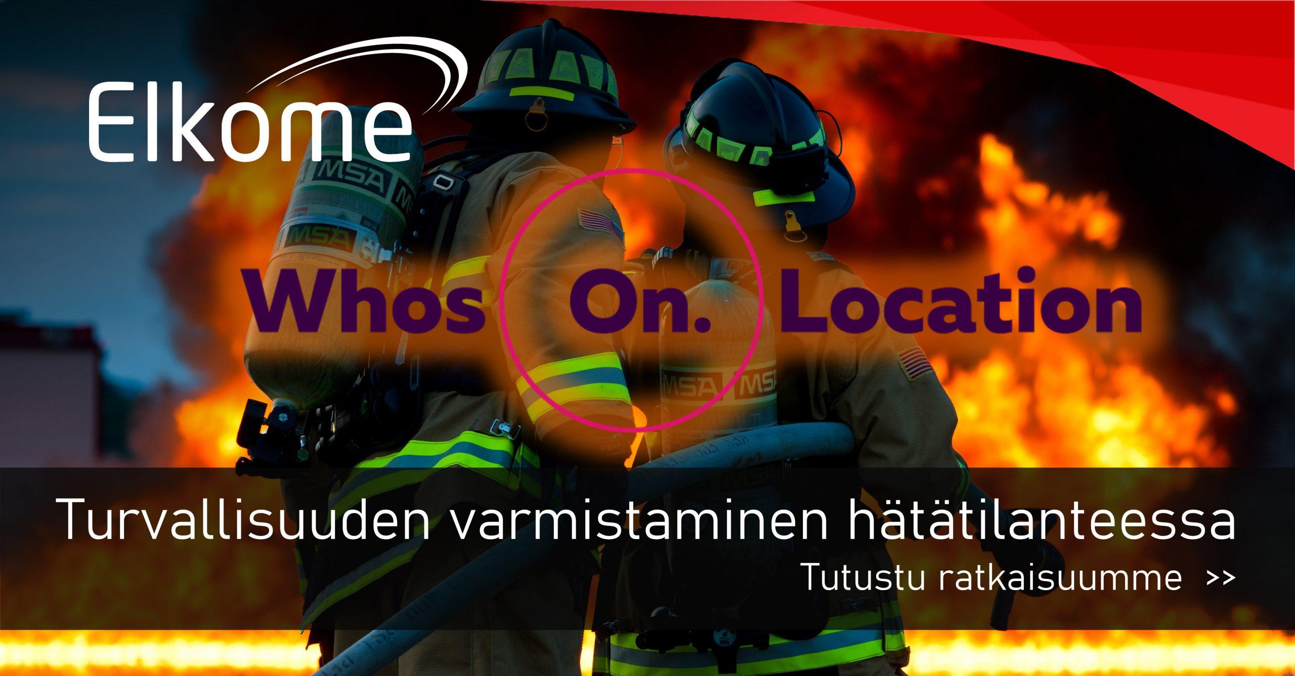WhosOnLocation - Turvallisuuden varmistaminen hätätilanteessa